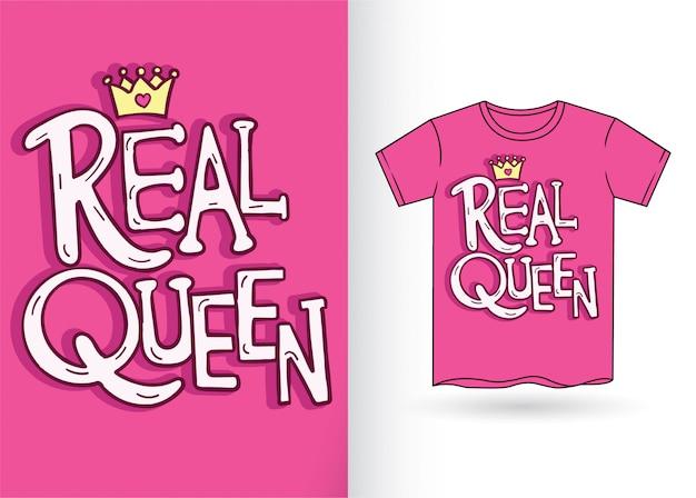 Slogan de typographie dessiné main mignon pour t-shirt