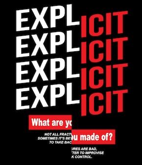 Slogan de typographie pour l'impression de t-shirt