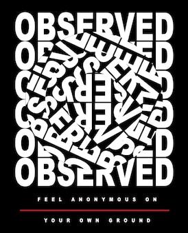 Slogan de typographie pour l'impression de t-shirts