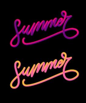 Slogan de vacances d'été à l'ananas et fleur tropicale