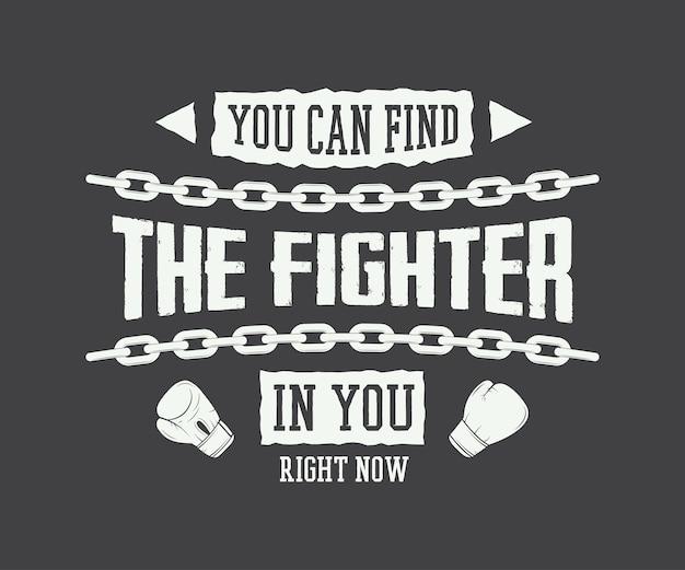 Slogan vintage avec motivation