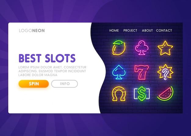 Slot en ligne - page de destination. page web du casino