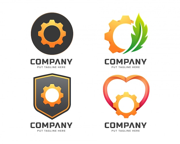 Smart gear logo template pour entreprise