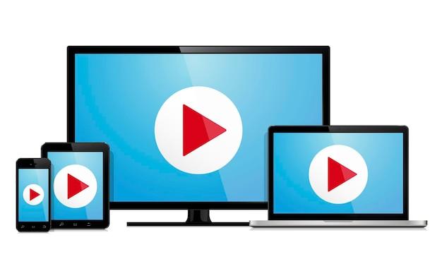 Smart tv ordinateur portable smartphone et tablette pc
