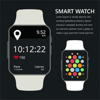 Smart watch avec une application de conditionnement physique pour la santé