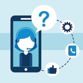 Smarthopne centre d'appel soutien application service à la clientèle