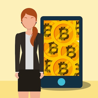 Smartphone application femme golden bitcoins entreprise