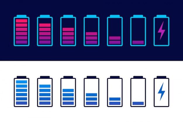 Smartphone à batterie déchargée et entièrement chargée.