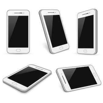 Smartphone blanc réaliste