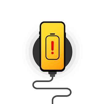 Smartphone en charge sans fil