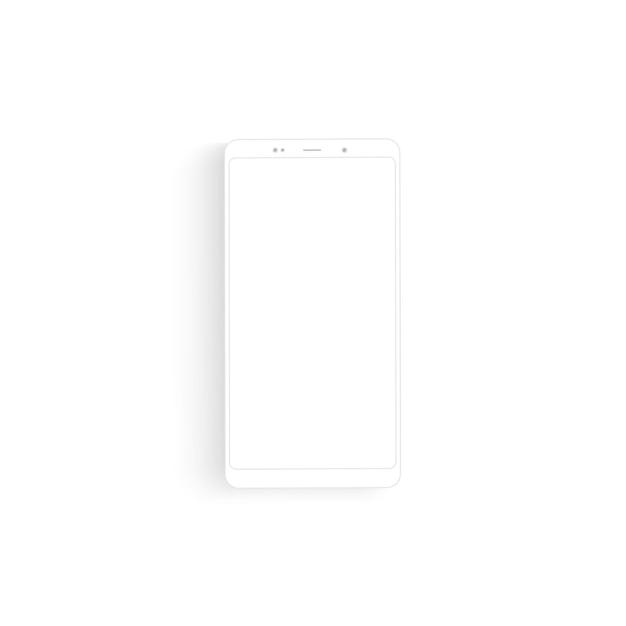 Smartphone De Dessin De Contour. Conception élégante De Style De Ligne Mince Vecteur Premium