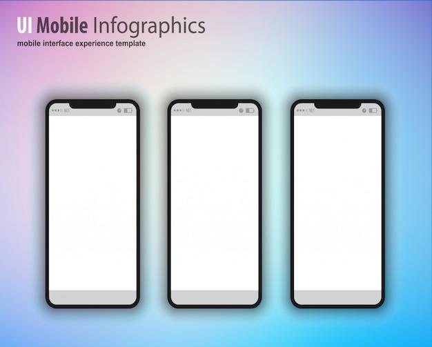 Smartphone avec écran vide, appareil de nouvelle génération