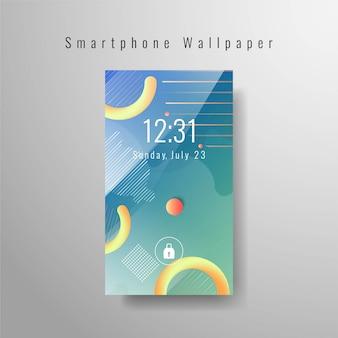 Smartphone fond d'écran élégant