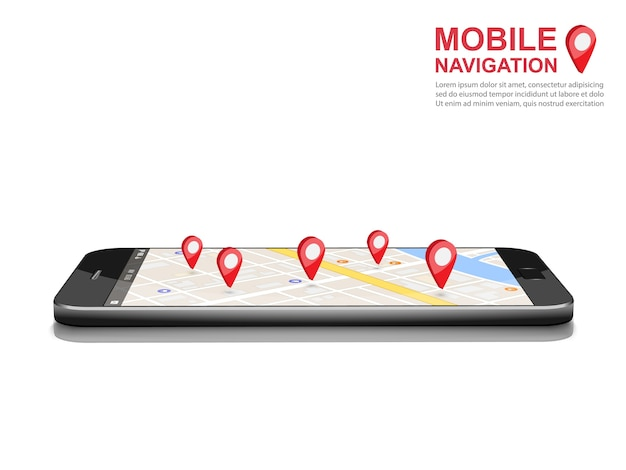 Smartphone gps icône de navigation