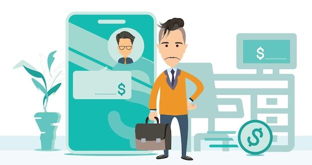 Smartphone homme d'affaires illustration stock adultes adultes seulement affaires