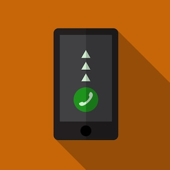 Smartphone icône plate illustration isolé vecteur signe symbole
