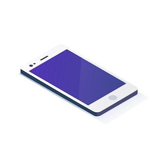 Smartphone isométrique.