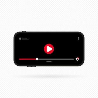 Smartphone avec lecteur vidéo à l'écran