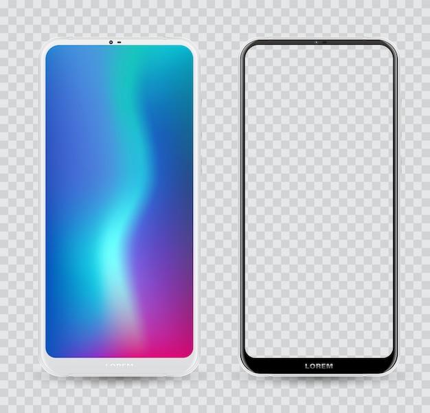 Smartphone maquette facilement placer l'image dans l'écran.
