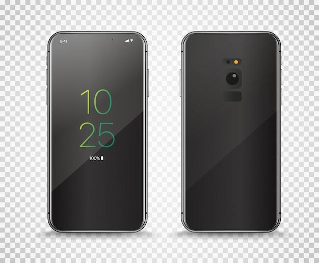 Smartphone moderne sans cadre isolé