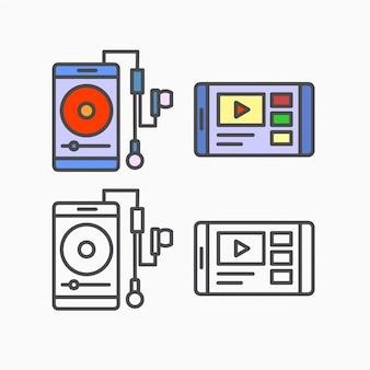 Smartphone musique et vidéo
