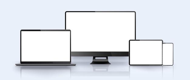 Smartphone, ordinateur portable, pc, tablette. modèle de présentation