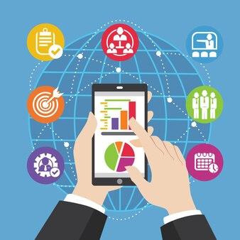 Smartphone pour l'illustration d'entreprise