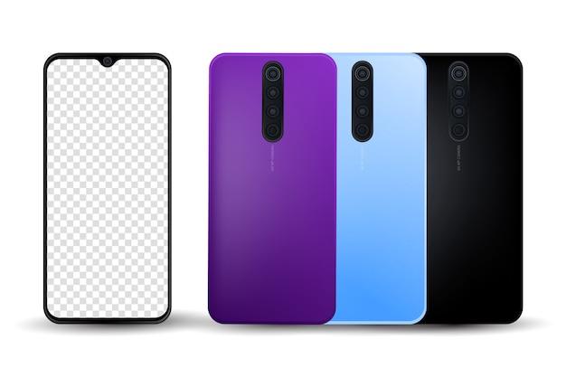 Smartphone Pro Générique Réaliste Vecteur Premium