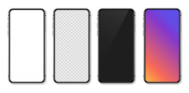 Smartphone réaliste avec écran blanc vide. illustration