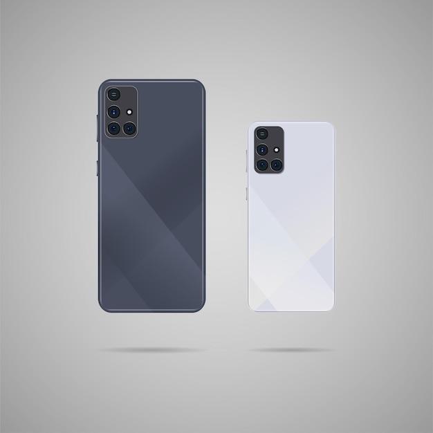 Smartphone réaliste avec illustration arrière.