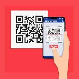 Smartphone scannant le code qr