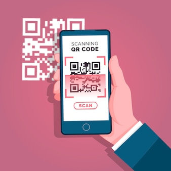 Smartphone scannant le code qr