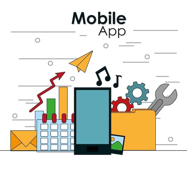 Smartphone avec la technologie de l'application mobile