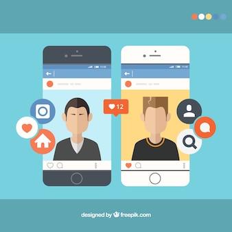 Smartphones avec instagram