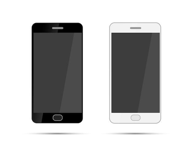 Smartphones mobiles isolés sur fond blanc
