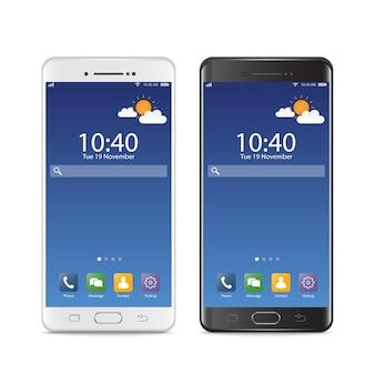 Smartphones noir et blanc
