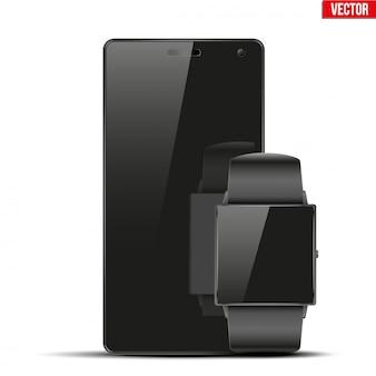 Smartwatch et smartphone à écran tactile