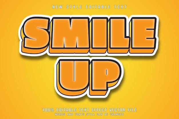 Smile up style de dessin animé en relief effet texte modifiable