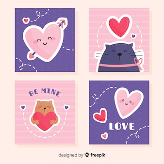 Smiles collection de cartes de la saint-valentin