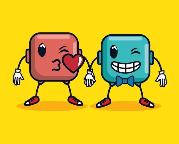 Smiley fait face à des icônes d'émoticônes emoji