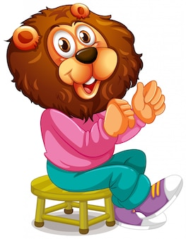 Smiley lion personnage