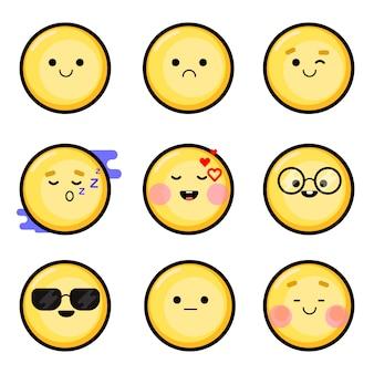 Smileys isolés de vecteur