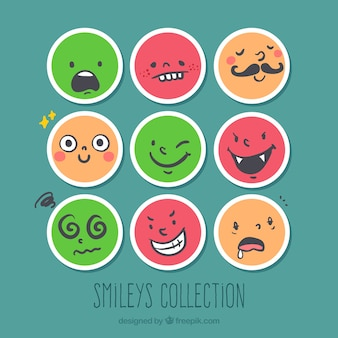 Smileys rondes drôles emballent