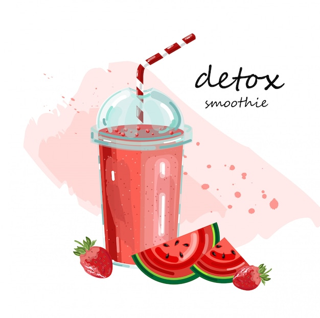 Smoothie au melon d'eau detox