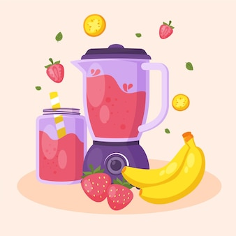 Smoothies design plat en verre blender