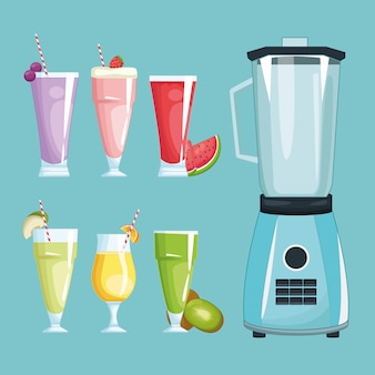 Smoothies et mixer