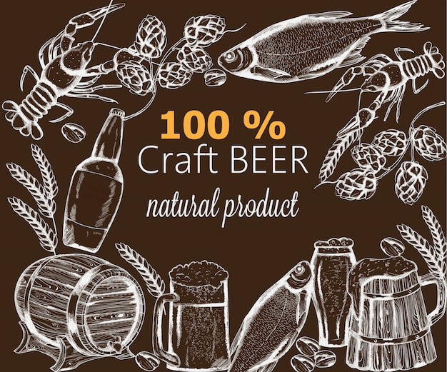 Snacks à la bière avec poisson, écrevisse, artichaut et pistache