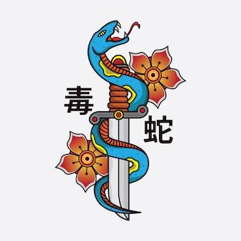 Snake design pour vêtements de marque