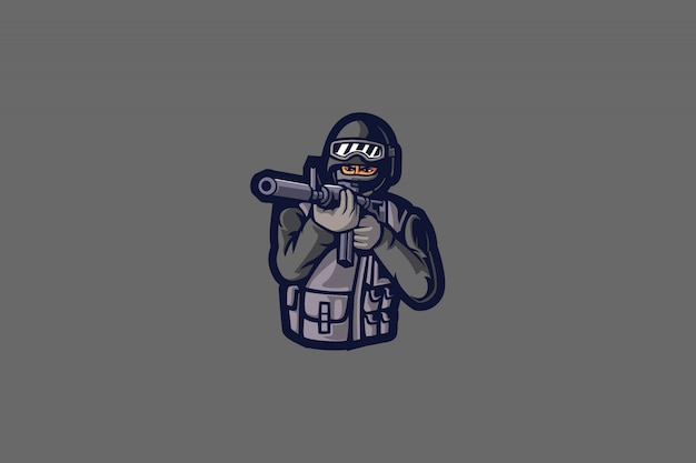 Sniper man e sports logo