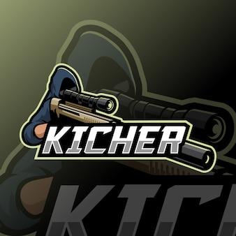 Sniper mascotte esport logo